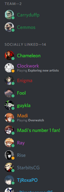 SMT Discord Colored Usernames